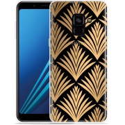 Samsung Galaxy A8 Plus 2018 Hoesje Art Deco Gold