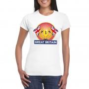Bellatio Decorations Wit Groot Brittannie/ Engeland supporter kampioen shirt dames