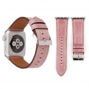 Voor Apple Watch serie 3 & 2 & 1 42mm frisse stijl Wrist Watch lederen Band (roze)