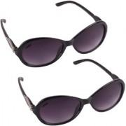 Aligatorr Combo Of 2 Cat Eye Grey Ladies Sunglasses ldy grey ladiescomCRLK