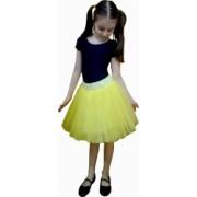 Fusta tulle galben tutu copii - Alessia - 7 ani