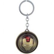 Stonic Revolving Rotating Iron Man Bronze Keyring Key Chain