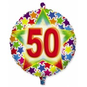 Balon Mylar Rotund 45 cm Stardust 50 Big Party