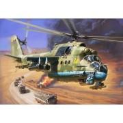 Zvezda Mil Mi-24P Hind Attack helikopter makett 7315