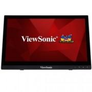 """Монитор ViewSonic TD1630-3, 15.6"""" (39.62 cm) TN панел, тъч скрийн, HD, 12ms, 10,000,000:1, 220cd/m2, HDMI, VGA"""