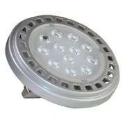 LED lámpa , 12V DC , AR111 foglalat , 12 Watt , 30° , meleg fehér