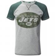 NFL Men's New York Jets Logo Contrast Sleeve T-Shirt - Grey - S - Grey