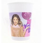 Set 8 pahare plastic Violetta Gold