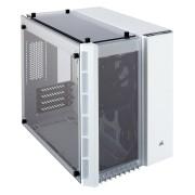Gabinete Corsair Crystal 280X WHI TG MATX USB 3.0 sin fuente, CC-9011136-WW