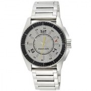Fastrack Analog Silver Round Watch -3089SM02
