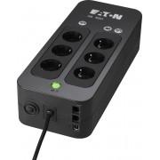 Eaton 3S 550 DIN 550VA 6AC outlet(s) Mini Toren Zwart UPS