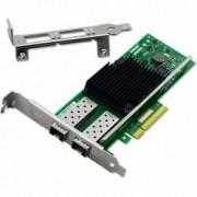 Placa de retea Server chipset 82599 ES compatibila Intel X520-DA2 10 Gigabit cu 2 slot-uri SFP+