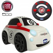 Chicco - Coche Radiocontrol Fiat 500 Sport Con Volante Intuitivo Y Sonidos