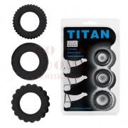 Titan három szilikon péniszgyűrű