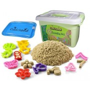 CoolSand Deluxe Bucket Kinetic Play Sand With Inflatable Sandbox - Learning Set Edition