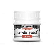 Pentart Fényes fehér színű akril bázisú hobbi festék 50 ml