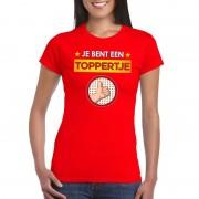 Shoppartners Rood t-shirt Je bent een toppertje voor dames
