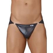 Candyman Metal Snap Mesh Jock Bikini Jock Strap Underwear Black 99313