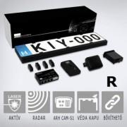 KIYO ULTIMATE komplett traffipaxvédelem R Aktív lézerjelző-lézerblokkoló 4 szenzorral, Radardetektor, GPS rendszer és kiegészítők