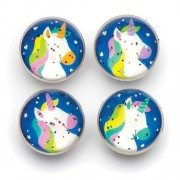 Unicorn Glitter Bouncy Balls - 8 High Bounce Jet Balls in 4 designs for kids. 30mm diameter. Ideal for kids party bags.