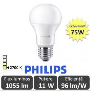 Bec LED Philips - CorePro LED bulb 11W A60 230V E27 alb-cald