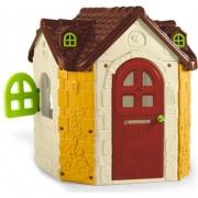 feber 800010962 Casetta Da Giardino Per Bambini 125x135x140 Cm Casa Gioco Con Porta Che Si Chiude Con Chiave E Finestre - 800010962 Fancy House