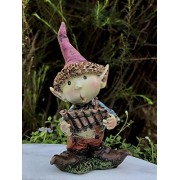 Capricornmen Miniature Dollhouse FAIRY GARDEN Young PIXIE Boy Playing Pan Flute NEW