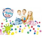 POCO DIVO 200 Pit Balls Crushproof Kids Play Fun Ball 5-Color Magic Seaball with Mesh Bag