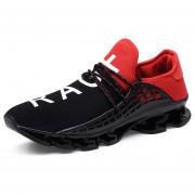Zapatos Deportivos Amortiguación Para Unisex TK02 - Negro Y Rojo