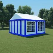 vidaXL aiatelk, PVC, 4 x 4 m, sinine ja valge