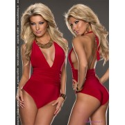Maglia Body scollata con schiena nuda Kensy Red