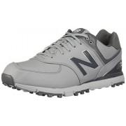 New Balance Men's 574 SL Waterproof Spikeless Comfort Golf Shoe, Grey/Silver, 15 M US