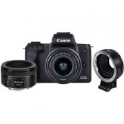 Canon EOS M50 Kit 15 - 45 mm + 50 mm + M-Mount Adapter
