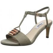 Clarks Women's Amali Ella Sage Leather Loafers and Moccasins - 5 UK/India (38 EU)