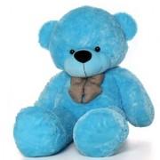 Omex 5 Feet BIG Stuffed Spongy Teddy Bear Cuddles Soft Toy For Girls 152 Cm - Blue