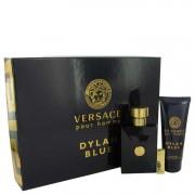 Versace Pour Homme Dylan Blue Eau De Toilette Spray 3.4 oz / 100.55 mL + Shower Gel 3.4 oz / 100.55 mL + Money Clip Gift Set Men