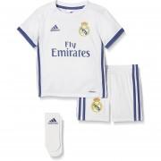 Kit Conjunto Adidas Del Real Madrid Para Niños Y Bebe-Blanco