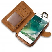 FLOVEME 4.7-5.5 inches Cell Phone Case Men Women Clutch Bag PU Leather Wallet for iphone