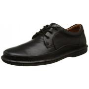 Clarks Men's Butleigh Edge Black Leather Sneakers - 8 UK/India (42 EU)