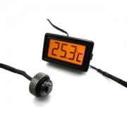 Senzor de temperatura XSPC LCD Temperature Display (Orange) V2 + G1/4 Plug Sensor