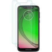 Ntech 2 Stuks Screenprotector Tempered Glass Glazen Gehard Screen Protector 2.5D 9H (0.3mm) - Motorola Moto G7 Play