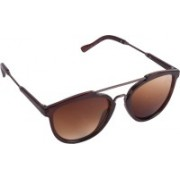 Criba Retro Square Sunglasses(Brown)