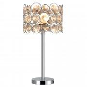 [lux.pro]® Asztali lámpa Dora műkristály éjjeli lámpa design 45 x ø 26 cm ezüst