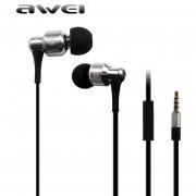 Audífonos Bluetooth Manos Llibres, AWEI ES-500i Aislamiento De Ruido Super Deep En El Oído Del Auricular (plata)