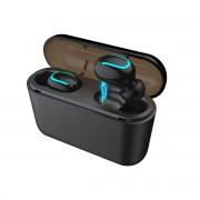 HBQ V5.0 TWS Bluetooth Stereo Earphones Wireless Sport Headset - U Shape / Black