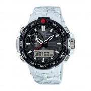Casio PRO TREK Triple Sensor Version 3 TOUGH SOLAR Watch PRW-6000SC-7 - White