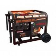Generator Curent Electric Profesional Visoli DG-8000CLE 6500W Motorina Portabil + Panou Automatizare Optional