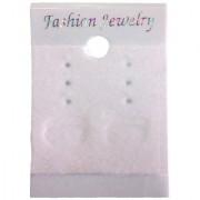 DIY Crafts Velvet Earring Cards - Hanging Earring Card Holder Velvet Jewelry Display Cards for Earrings Ear Studs White 2 x 1.5 Inches Velvet Finsh (100 Pcs Pack Off White)