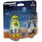 Playmobil personaggi astronauta e robot 9492