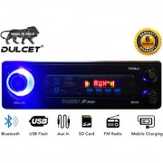Dulcet DC-ST-9091 Fixed Panel Single Din MP3 Car Stereo with Bluetooth/USB/FM/AUX/MMC/Remote Control
